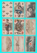 Antique Collectible playing cards. Vues & Costumes Suisse by Muller & cie